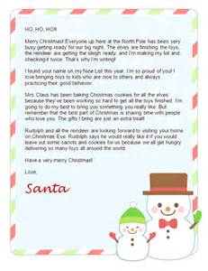 Father Christmas Letter Templates Free 9 Best Images Of Letters From Santa Christmas Printable