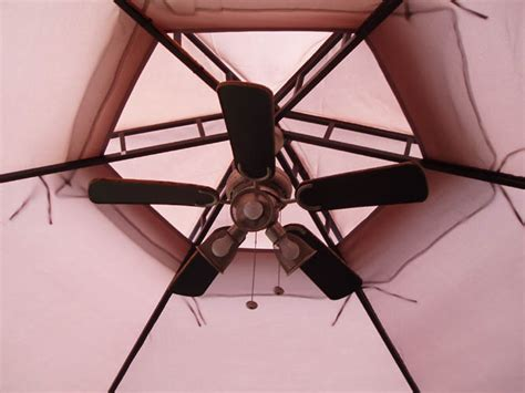 gazebo fan with hook morning meditation