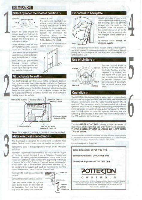 potterton prt2 thermostat wiring diagram 40 wiring