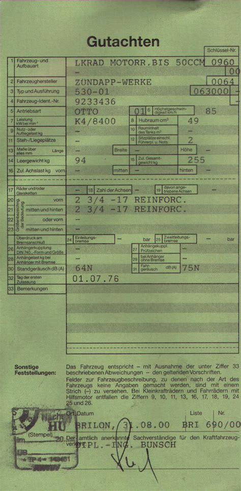 125er Motorrad Fahrzeugbrief by F 252 Hrerschein F 252 R Kleinkraftrad Motorr 228 Der 125er