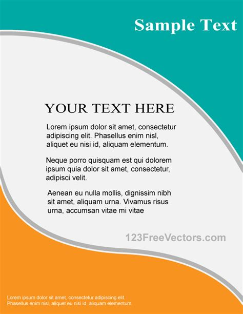Vector Flyer Design Template By 123freevectors On Deviantart Graphic Flyer Templates Free