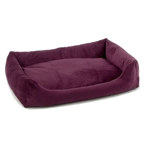 purple dog bed bolstering dog beds donut dog beds plush bumper dog beds
