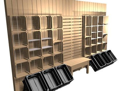 boutique shelving  crates   stacking crates
