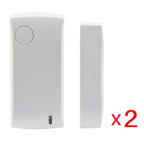 Wireless Door Magnetic Contact ag security 433mhz wireless door sensor magnetic contact white 2pc free shipping dealextreme