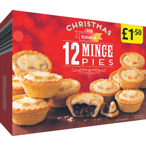 iceland christmas 12 mince pies fruit pies tarts