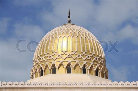 Cupola Dubai Golden Mosque Cupola Sharjah City Stock Photo Colourbox