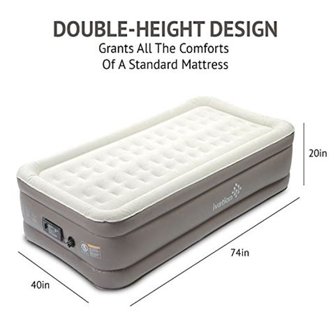 ivation premium comfort air mattress up bed w 14 dual coils 840102160642 ebay