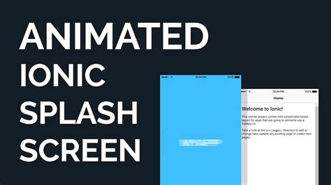 ionic animation tutorial make an animated ionic splash screen via html css youtube