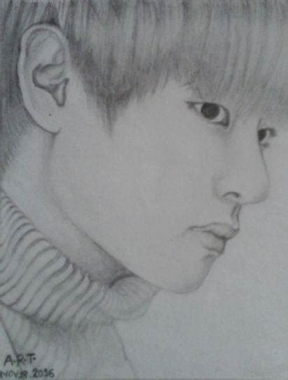 V Drawing Bts Easy by Bts V Fan By Ashnoor96 On Deviantart