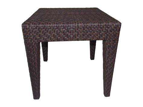 wicker accent table hospitality rattan outdoor soho wicker 19 square end table