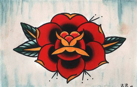 traditional rose tattoo flash traditional outlines viewing gallery i