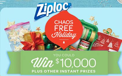 ziploc chaos free holiday instant win game and sweepstakes - Holiday Instant Win Games