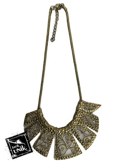 Kalung Murah Kode 39 kalung coker tembaga bakar silver emas kalung etnik murah batikunik