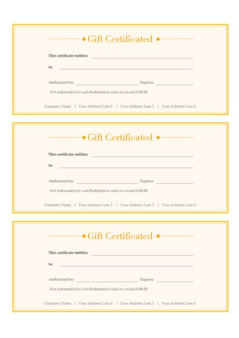 gift voucher free gift voucher templates