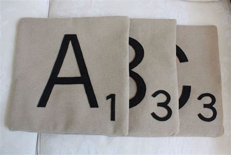Scrabble Letter Pillows by The 25 Best Ideas About Letter Pillow On