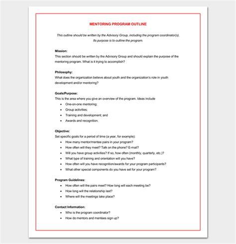 program outline template 14 sle exle format