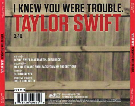 i knew you were trouble i knew you were trouble