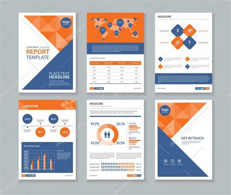 company st template company profile annual report brochure flyer page
