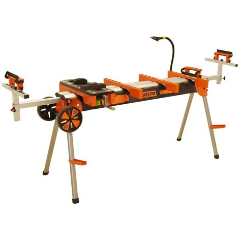 miter saw bench portamate heavy duty portable miter saw stand with quick
