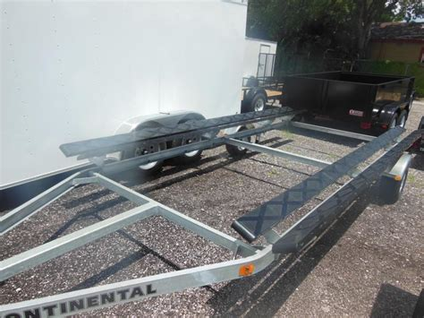 pontoon boat trailer winch stand with steps continental trailers cp2024 pontoon boat trailer