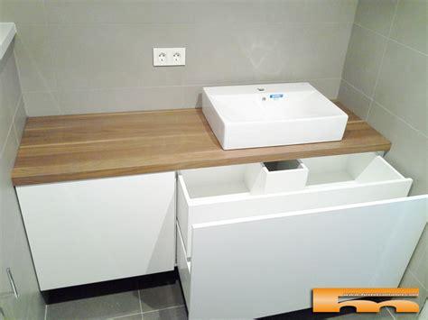 mueble bano  medida lacado brillo sobre formica madera terrassa sara