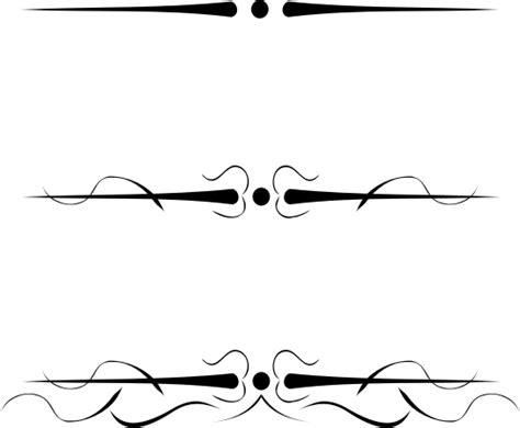 tattoo font underline clipart 3 underline flourishes