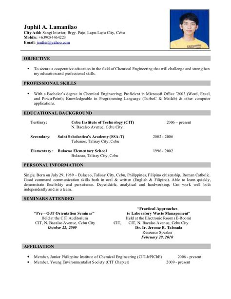 exles of resumes resume sle resume cv