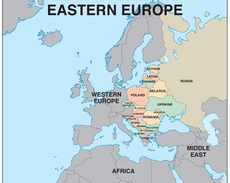 Map Of East Europe by Western And Eastern Europe Map Pictures To Pin On Pinterest