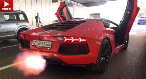 Lamborghini Exhaust Lamborghini Aventador With Aftermarket Exhaust