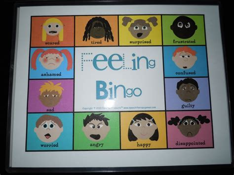 printable emotion games 8 best images of emotions bingo printable game body