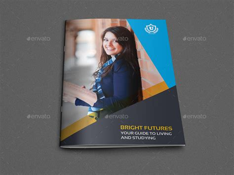 university college brochure template 16 pages by