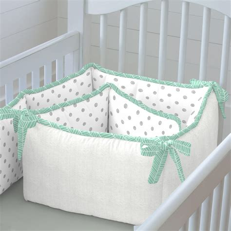 Mint Herringbone Crib Bedding Neutral Baby Bedding Mint Green Crib Bedding