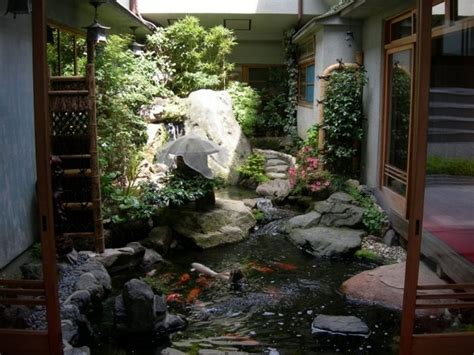indoors garden homes with indoor ponds