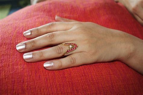 Tamil Wedding Ring Design by Indian Jewellery Indianbijou