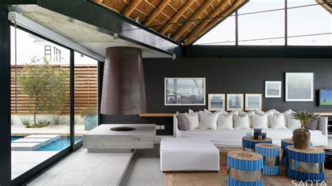 beach house living room thatched roof beach house with outdoor entertaining spaces