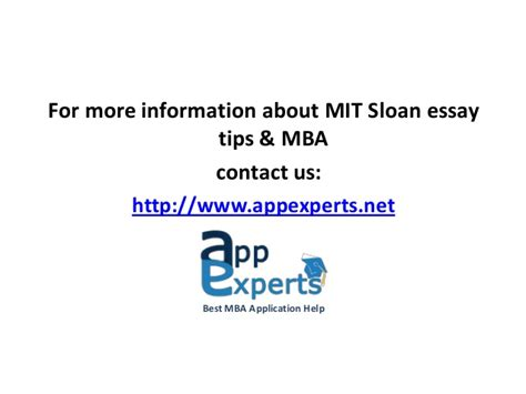 Mit Sloan Mba Application Essay by Mit Sloan Essay Topics 2013 2014