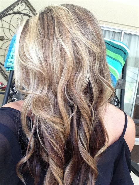 long blonde hair with dark low lights new brown and blonde hair love my highlights lowlights