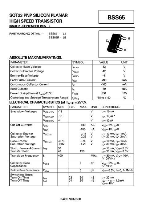 smd transistor l6 datasheet bss65r 460523 pdf datasheet ic on line