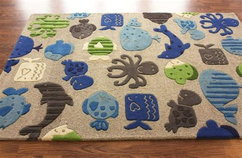 Sea Themed Rugs by Marine Rug Slumberstyle A Blue Green Or