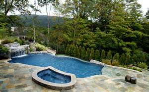 swimming pool ideas for backyard backyard swimming pool landscaping home design ideas
