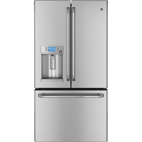 over refrigerator cabinet lowes ge cye23tsdss cafe 23 1 cu ft counter depth french door