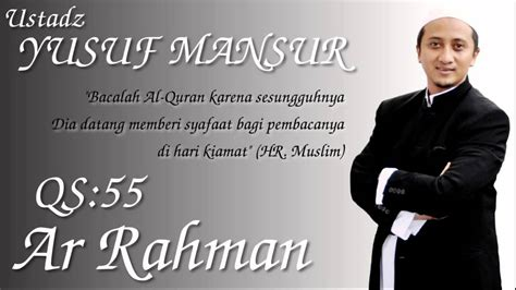 download mp3 ar rahman harris j qs 55 ar rahman ust yusuf mansur viyoutube
