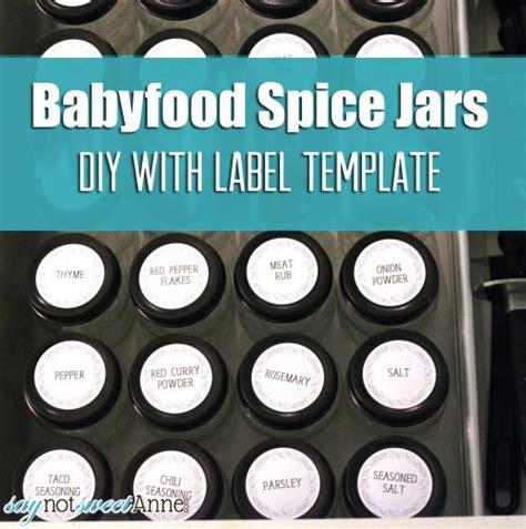 baby food jar label template baby food diy spice jars sweet designs