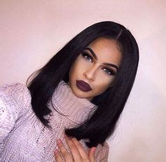 bobbed hair middle parting black coloured 1000 ideas about middle part bob on pinterest middle