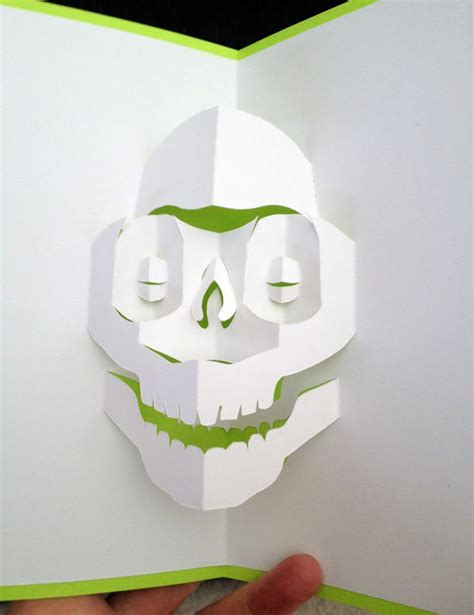 Template Popup Card Skull by Skull Pop Up Card Template From Cahier De Kirigami 4