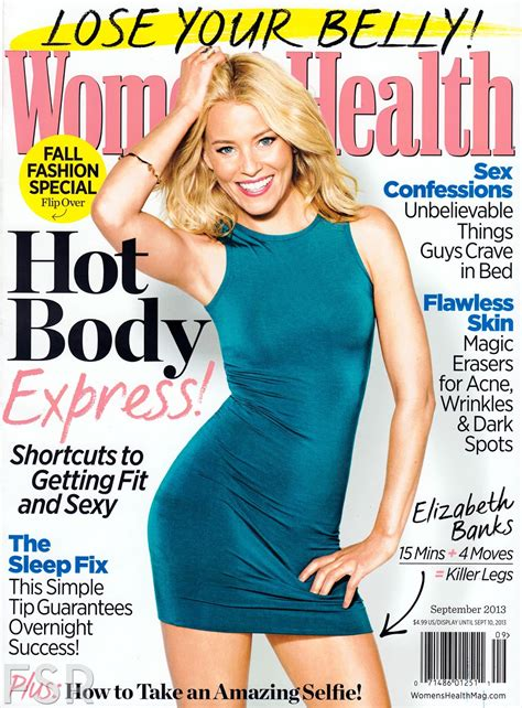 women magazine elizabeth banks women s health magazine magazine