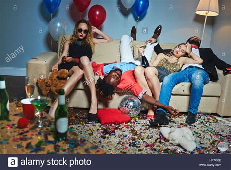 what to buy for a house party messy room after wild house party three tipsy stylish friends stock photo royalty