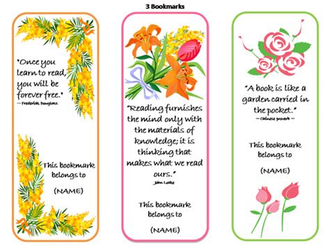 bookmarks on pinterest printable bookmarks free
