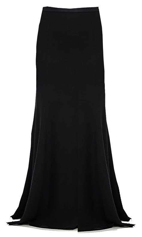 black flowing chiffon maxi skirt elizabeth s custom skirts