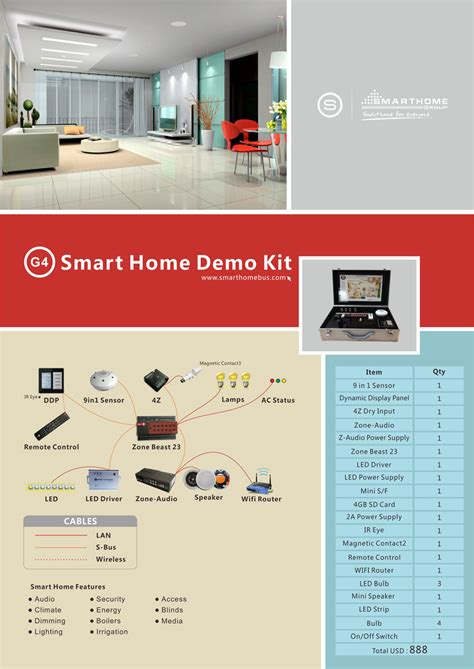 home automation system smart g4 catalogue flyers
